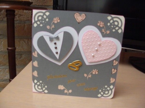 Carte / Scrapbooking : invitations anniversaire de mariage version carte